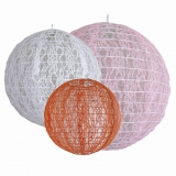 "12"" Orchid Lace Fabric Lanterns(120 of case)"