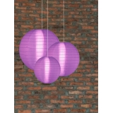 "8"" Light Purple Even Ribbing Nylon Lantern"