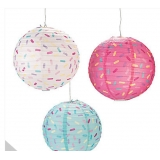 "3pck 12"" Donut Party Hanging Paper Lanterns"