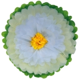 Paper Tissue Flower -ivory white yellow
